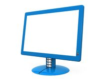 Blue Monitor. Computer generated image - Blue Monitor Stock Photos