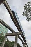Blue Monorail. Mumbai, India - June 10, 2016: Mumbai Monorail is a monorail system in the city of Mumbai, Maharashtra Royalty Free Stock Photos