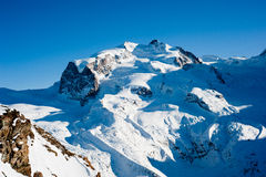 Blue monte rosa Royalty Free Stock Photo