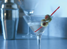 Blue Mood Martini Stock Photography