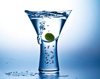 Blue Mood Martini Stock Photos