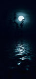 Blue moon. Over the sea Royalty Free Stock Images