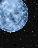 Blue Moon. Fantasy view of a moon in space royalty free illustration
