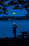 blue moon Obraz Royalty Free