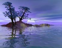 Blue Moon Island royalty free stock image