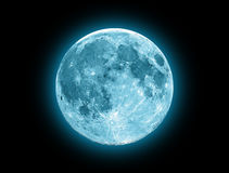 Blue Moon. Isolated on a black Stock Photography