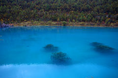 Blue moon lake in yunnan. Blue moon lake beside yulong snow mountain Stock Photography