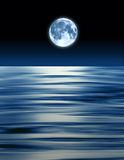 Blue Moon Ocean Stock Photo