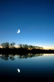 Blue Moon Over White Slough Royalty Free Stock Photography