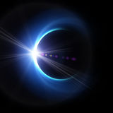 Blue moon in space Stock Photos