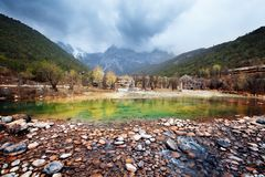 Blue moon valley,Lijiang, China Royalty Free Stock Photo
