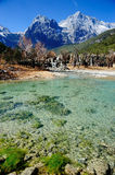 Blue Moon Valley. In Yulong Snow Mountain Stock Image