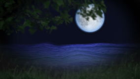 Blue moon  and water Stock Images