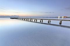 Blue morning at the beach Stock Photography
