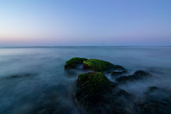 Blue morning. Blue colors in Black sea, Bulgaria Royalty Free Stock Photos