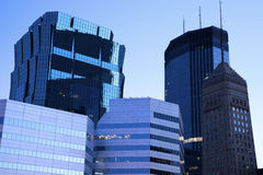Blue Morning in Minneapolis Stock Photos