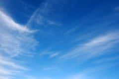 Blue Morning Sky. Stock Photo