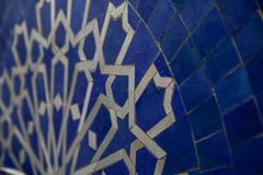 Blue Moroccan Zellige Royalty Free Stock Photography