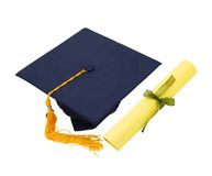 Blue Mortarboard Stock Photo