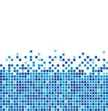 Blue mosaic vector illustration