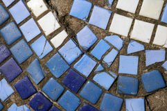 Blue mosaic. Stock Photo
