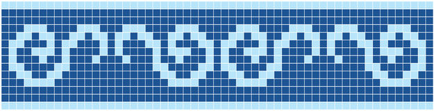 Blue Mosaic. Vector image of rectangles, good for background and pattern for graphical composition Stock Images