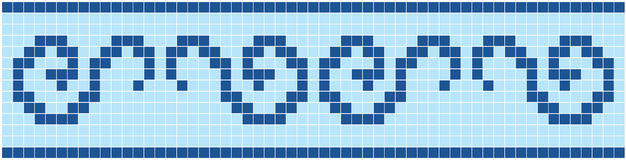 Blue Mosaic. Vector image of rectangles, good for background and pattern for graphical composition Royalty Free Stock Photo