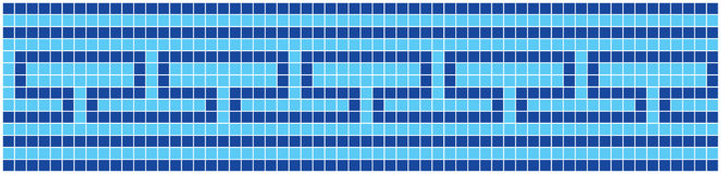 Blue Mosaic. Vector image of rectangles, good for background and pattern for graphical composition Stock Photo