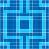 Blue Mosaic. Vector image of rectangles, good for background and pattern for graphical composition Royalty Free Stock Photography