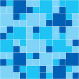 Blue Mosaic. Vector image of rectangles, good for background and pattern for graphical composition Stock Photography