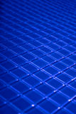Blue mosaic. Blue glass mosaic in lines Stock Photography