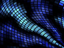 Blue mosaic abstract wave background Stock Photo