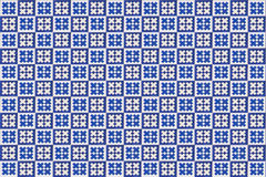 Blue mosaic azulejo texture in Lisbon. Stock Photos