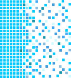 Blue mosaic background. Simple vector mosaic background in blue color Stock Photo