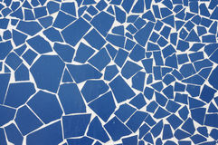 Blue mosaic background Stock Photos
