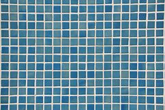 Blue Mosaic background. Tiles of Blue Mosaic wall Royalty Free Stock Photography