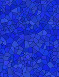 Blue mosaic for background Stock Photos