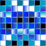 Blue mosaic background - vector Royalty Free Stock Images