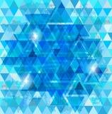 Blue mosaic background Stock Photos