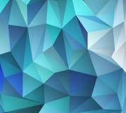 Blue mosaic background. Vector illustration Stock Image