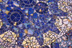 Blue Mosaic. Closeup of blue and white mosaic tiles Stock Images