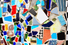 Blue Mosaic. Colorful Mosaic tiles held together by grout Royalty Free Stock Photography