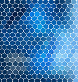 Blue mosaic composition with ceramic geometric shapes for your design. Abstract background for party posters Royalty Free Stock Photography