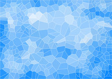 Blue mosaic composition with ceramic shapes Stock Image