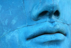 Blue mosaic face Royalty Free Stock Photography
