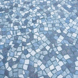 Blue mosaic floor Royalty Free Stock Photo