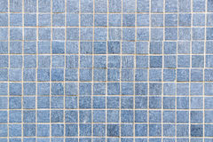 Blue Mosaic floor tile for texture background Stock Photography