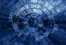 Blue Mosaic Glass Royalty Free Stock Image