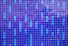 Blue mosaic pattern Stock Photo