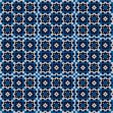 Blue mosaic pattern Stock Photography